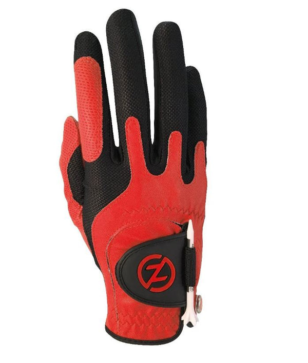 Zero Friction Universal Fit One Size Golf Glove (RED)