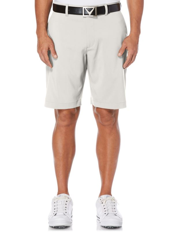 CALLAWAY MEN'S STRETCH SHORT WITH ACTIVE WAISTBAND (Silver Lining) - Miami Golf