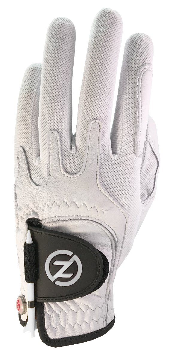 ZERO FRICTION MEN'S CABRETTA ELITE GOLF GLOVES (WHITE)