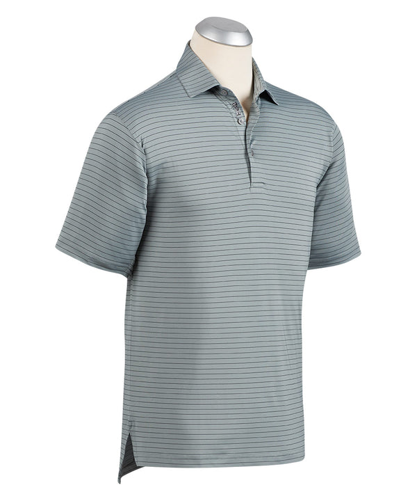 BOBBY JONES XH2O LINE STRIPE SHORT SLEEVE POLO SHIRT (GRAPHITE) - Miami Golf