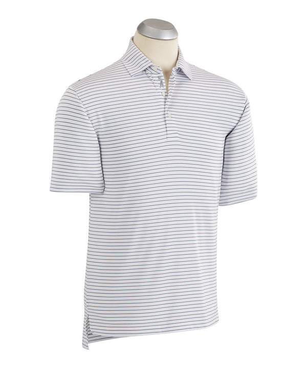 BOBBY JONES XH2O CYPRESS STRIPE SHORT SLEEVE POLO SHIRT (WHITE) - Miami Golf
