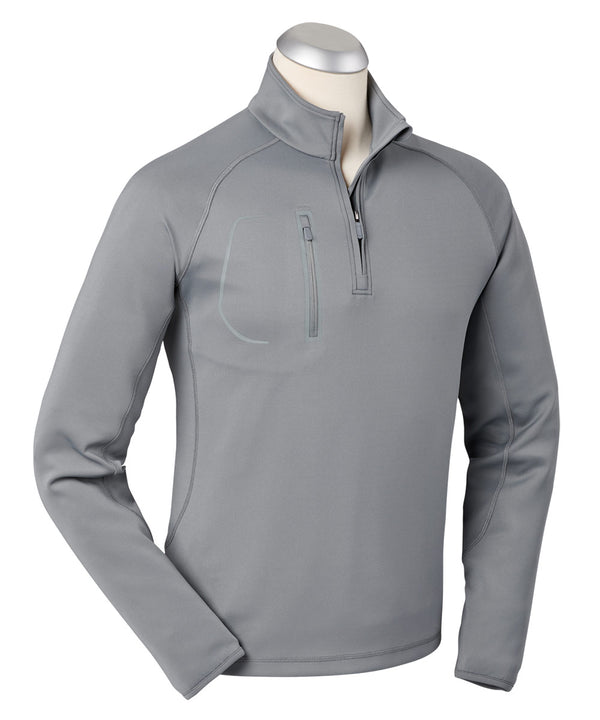 BOBBY JONES CRAWFORD PERFORMANCE LONG SLEEVE QUARTER-ZIP PULLOVER (GRAPHITE) - Miami Golf