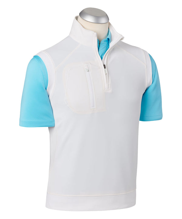 BOBBY JONES XH2O CRAWFORD VEST (WHITE) - Miami Golf