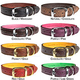 Bison Leather Dog Collars, Lined with Elk