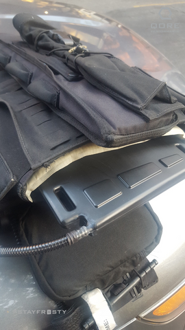 IcePlate worn behind soft body armor for police SWAT and military