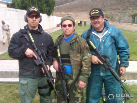 Qore Performance Co-Founder and CEO Justin Li at the Patrol Rifle Operator Course put in by the San Diego Sheriff's Department