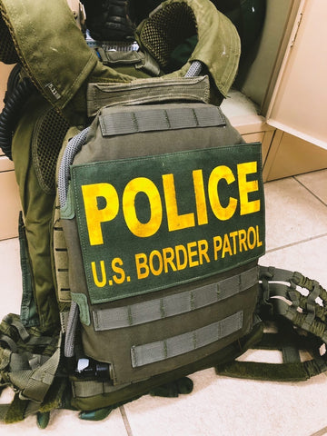 IcePlate Curve low profile plate carrier hydration, cooling and heating for military and law enforcement body armor as used by US Border Patrol