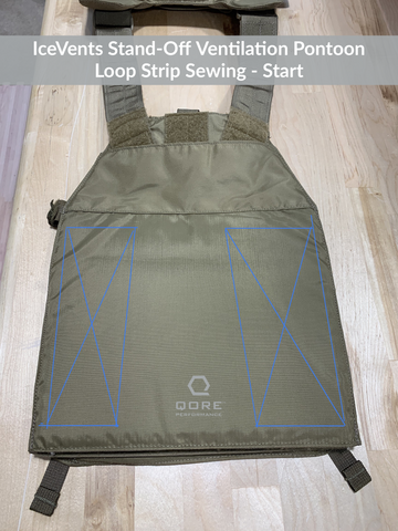 Sewing instructions for installing loop fields for IceVents Body Armor Ventilation Pontoons