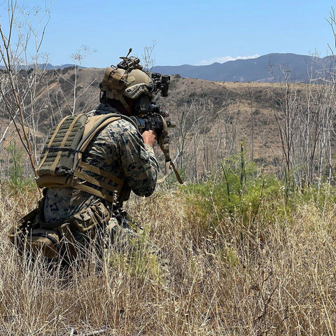 Plate carrier hydration and body armor cooling used by US Marines at Camp Pendleton, CA