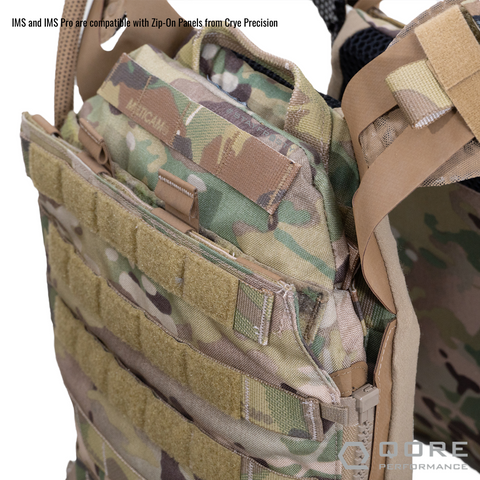 IMS (IcePlate MOLLE Sleeve) by Qore Performance is compatible with Zip-On Back Panels by Crye Precision