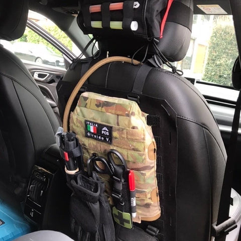 IMS Combo hard cell hydration MOLLE'd to seat-back for over-landing hydration