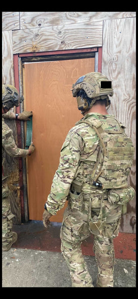 SOF Plate Carrier Hydration: IcePlate MOLLE Sleeve in use with US Army Special Forces