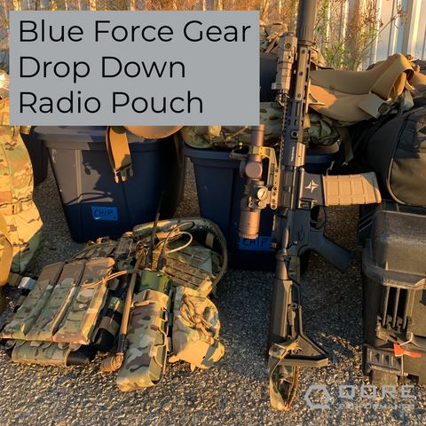 use a blue force gear drop down radio pouch with your IcePlate EXO