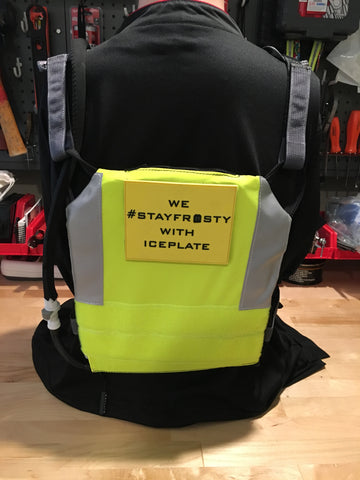 Comfort Harness paired with IcePlate Safety Vest Sleeve (back view)