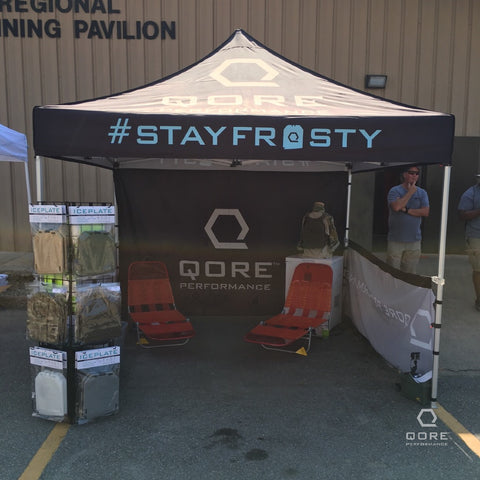 Qore Performance Rehab Tent at 2018 National Tactical Medic Competition by SOARescue in Dallas, NC