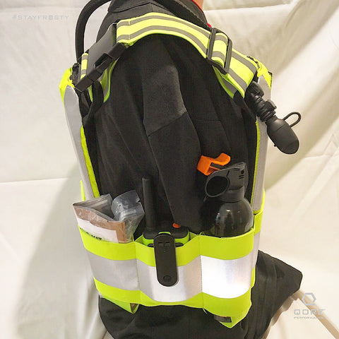 IcePlate Safety Vest Cummerbund can hold radios, first aid kits, fire suppression, batteries or just about any other tool you can think of