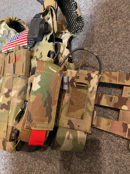 Crye Precision Airlite Configurable Radio Pouch is the best military radio pouch for IcePlate EXO (ICE) Ultralight Ventilated Plate Carrier by Qore Performance