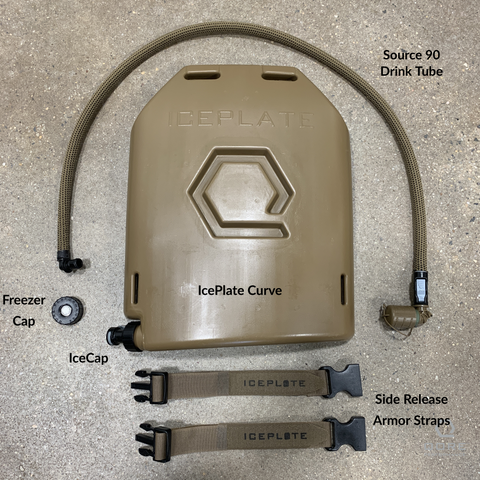 IcePlate Curve plate carrier hydration system whats in the box