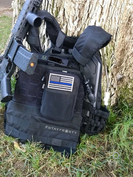 IcePlate Black on the job in a 5.11 TacTec Plate Carrier with Armor Straps for police use