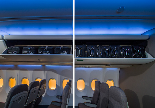 Boeing Space Bins on the all-new 737 MAX are the best overhead bin design for single aisle aircraft flying today