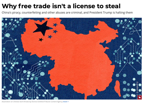 China is a nation of intellectual property thieves and cannot be trusted in trade with the United States