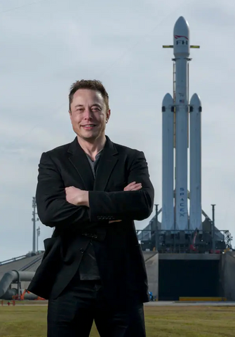 Elon Musk with Falcon Heavy rocket is the American Dream