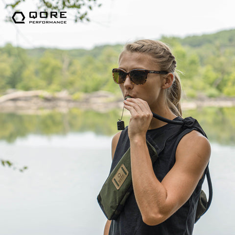 EDC Travel Sling for hiking, walking, every day carry, concealed carry, hydration is 100% made in USA from US materials