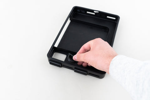 Install strap loops into SpeedSlots for IceCase iPad Cooling Case