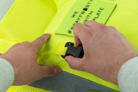 Installing SwiftClips onto IceVest HiVis Class 2 Cooling/Heating Safety Vest