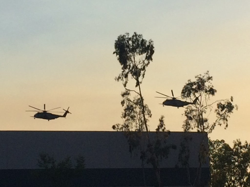 CH-53 helicopters from Marine Corps Base Camp Pendleton were critical to our response to these San Diego wildfires