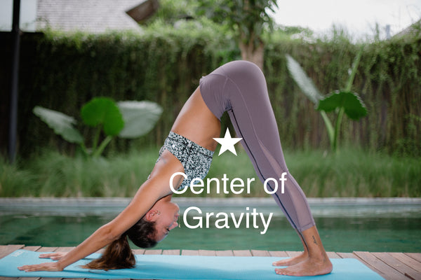 Center of Gravity in Down Dog Yoga Position