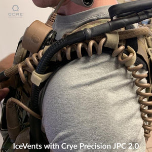 IceVents Plate Carrier and Backpack Shoulder pad with cord management by Garand Thumb