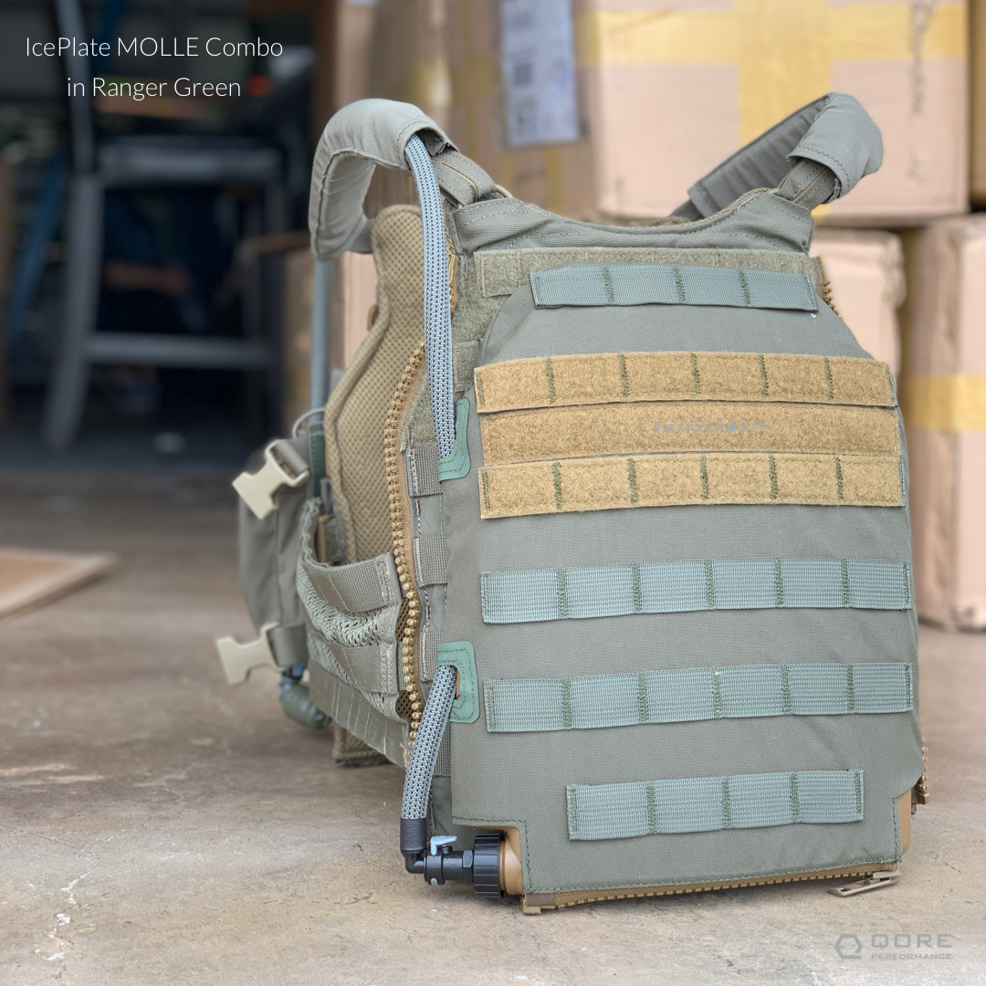 IcePlate MOLLE Combo: External Hard Cell Hydration for Plate Carriers and Body Armor