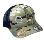 Q-Hex MultiCam Snapback Trucker Hat