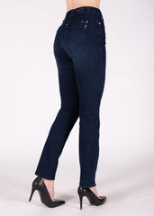 Angela High Rise Straight Leg in Blasted Rinse