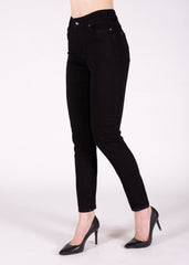 Angela High Rise Straight Leg in Black