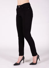 Sarah High Rise Skinny in Super Black