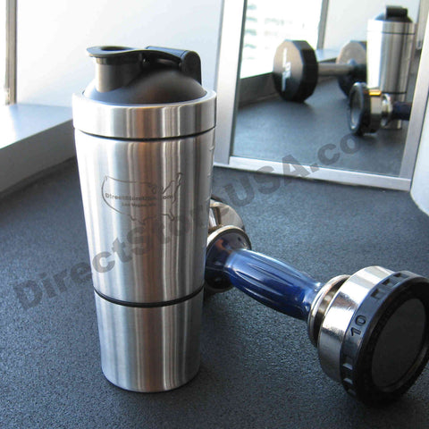 Stainless Steel Protein Shaker / Shaker Bottle / Mixer / Blender Cup / 1 Year Warranty - DirectStoreUSA.com LLC