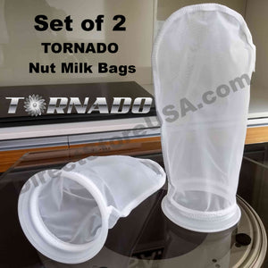 Set of 2 TORNADO Nut Milk Bags - the Next Evolution of Strainer Bags (2 PACK) - TornadoBlender.com / DirectStoreUSA.com