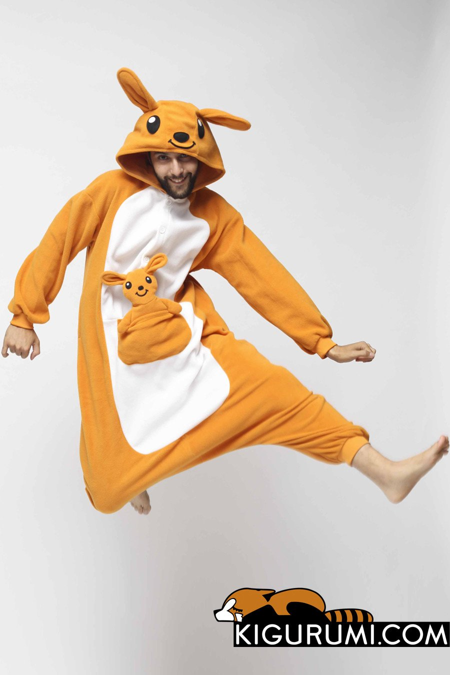 jumping in the air kangaroo kigurumi