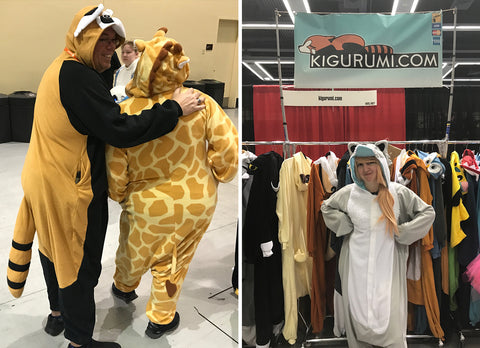 Red Panda, Giraffe and Ghost Wolf Kigurumi