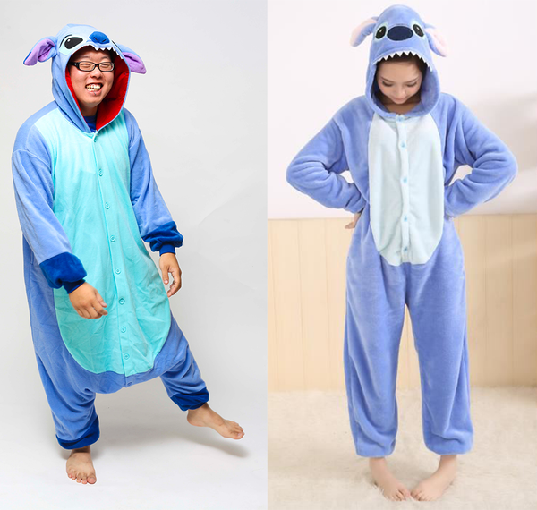 Stitch Kigurumi Onesie vs Fake