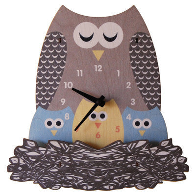 Nest Owl Wall Clock