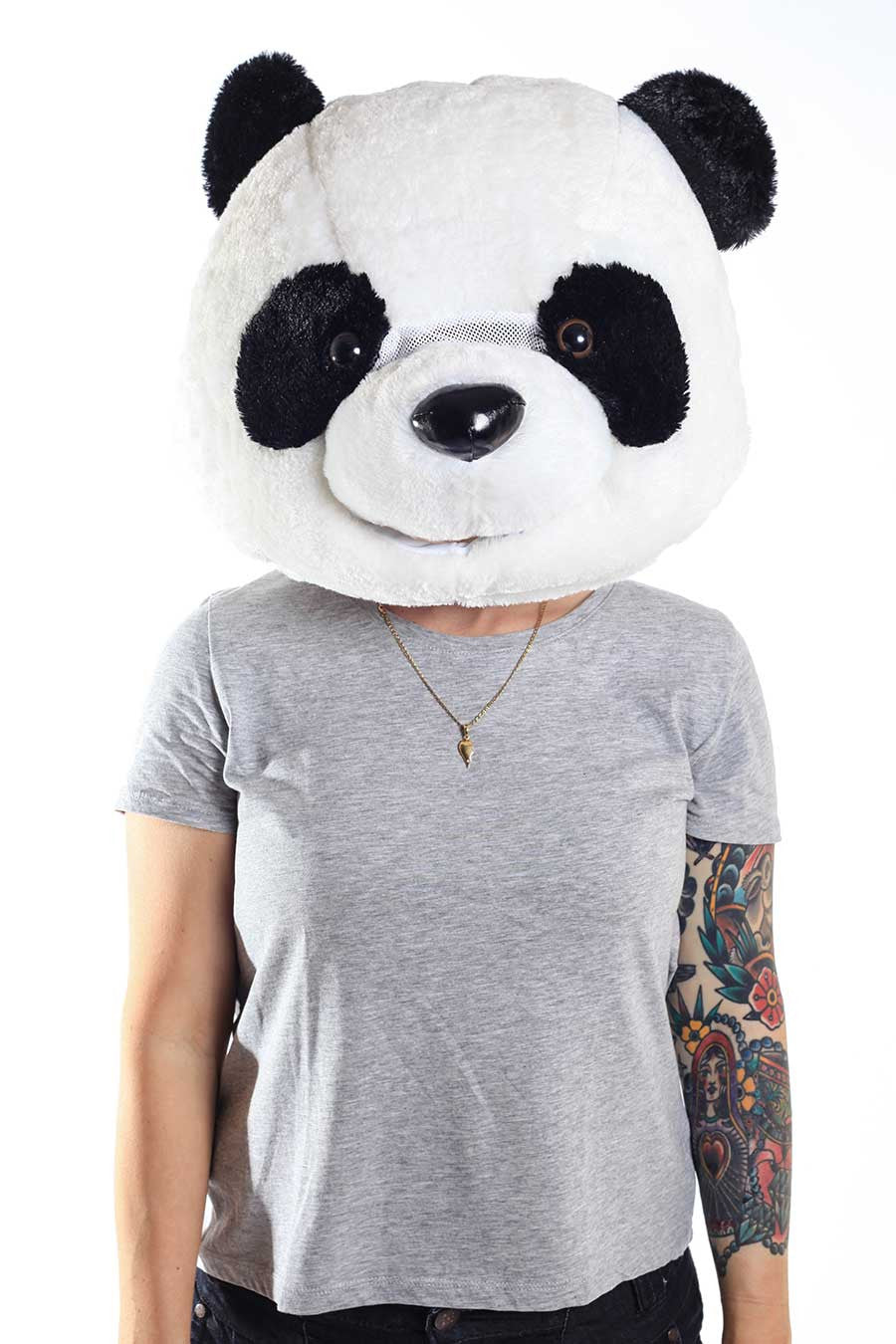 Sazac Giant Panda Head Animal Costume Mask  sc 1 st  Kigurumi.com & Great Big Panda Head