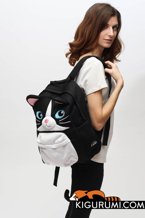 Black Cat Kigurumi Animal Bag Backpack Sazac