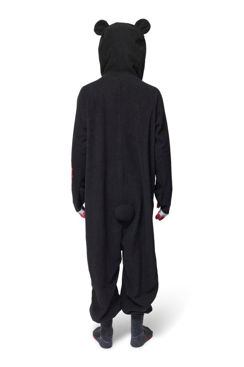 Black Gloomy Bear Character Kigurumi Adult Onesie Costume Pajamas Back