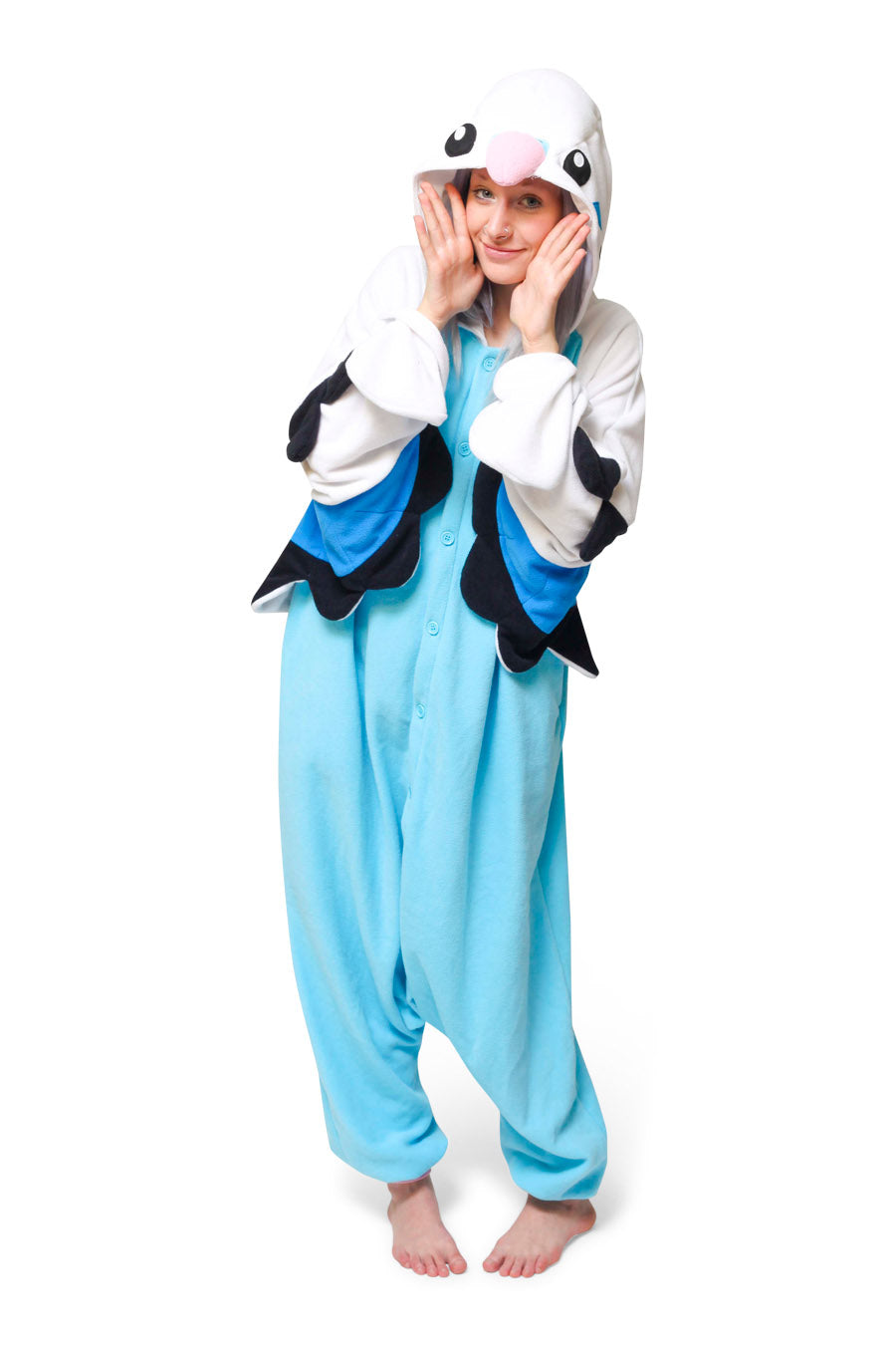 Blue Budgie X-Tall Animal Kigurumi Adult Onesie Costume Pajamas Main
