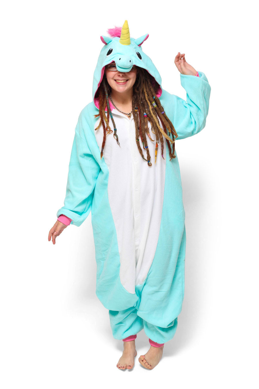 Blue Unicorn Animal Kigurumi Adult Onesie Costume Pajamas Main