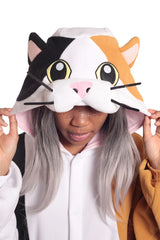 Calico Cat Animal Kigurumi Adult Onesie Costume Pajamas Hood
