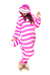 Cheshire Cat Character Kigurumi Adult Onesie Costume Pajamas Main Seconary